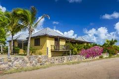 Caribbean house at Antigua Royalty Free Stock Photo