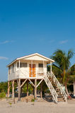 Caribbean house on the beach. Royalty Free Stock Images