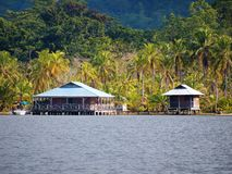 Caribbean house and cabin in Panama Stock Photo