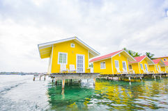 CARIBBEAN HOUSE WATER Royalty Free Stock Images