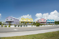 Caribbean houses Royalty Free Stock Images