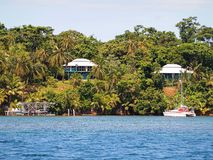 Caribbean houses in Panama Stock Photography