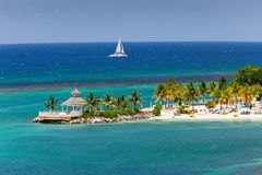 Caribbean Inlet to Ocho Rios, Jamaica stock photography