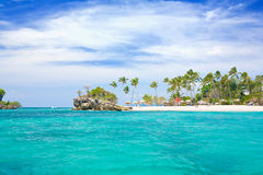 Caribbean island. Beautiful island in the caribbean sea Stock Images