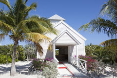 Caribbean Island Church Stock Image