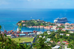 Caribbean. The Island Of Grenada. Grenada is a country and an island located in the southern part of the Antilles, and bordered on the East by the Atlantic Stock Image