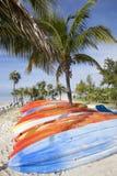 Caribbean Island Kayaks Stock Image