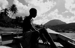 Caribbean island life Stock Image