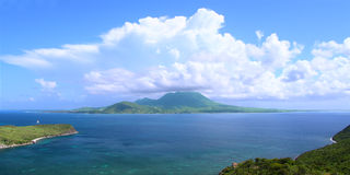 Caribbean island of Nevis Stock Images