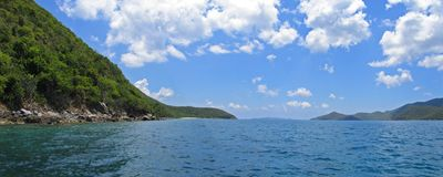 Caribbean island panoramic Royalty Free Stock Photos