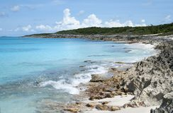 Caribbean Island Rocky Beach Royalty Free Stock Photos