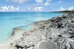 Caribbean Island Rocky Coastline Stock Photo