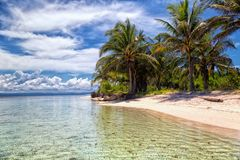 Caribbean island in San Blas. San Blas Island Masargandup on the Caribbean side of  Panama Royalty Free Stock Photography