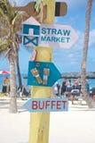 Caribbean Island Signpost Royalty Free Stock Photography