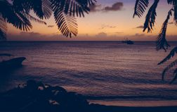 Caribbean island sunset of Nicaragua Stock Photo