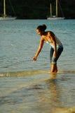 Caribbean Island woman Stock Image
