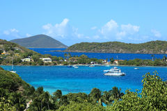 Caribbean islands. Landscape of caribbean islands, US virgin islands Royalty Free Stock Photography
