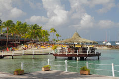 Caribbean Islands, Martinique, beach Pointe du Bout Stock Images