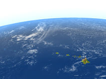 Caribbean islands on planet Earth. Caribbean islands. 3D illustration with detailed planet surface. Elements of this image furnished by NASA Stock Image