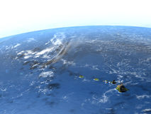 Caribbean islands on planet Earth. Caribbean islands. 3D illustration with detailed planet surface. Elements of this image furnished by NASA Stock Photo
