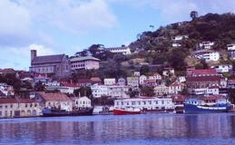 Free Caribbean Islands; The Harbour Of St. Georges On Grenada Island Stock Images - 189133904