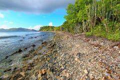 Caribbean Islands Tortola Beach Stock Photo