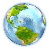 Caribbean on isolated globe Royalty Free Stock Image