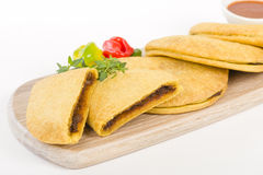 Caribbean Jerk Beef Patty Royalty Free Stock Images