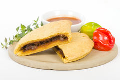 Caribbean Jerk Beef Patty Royalty Free Stock Photo