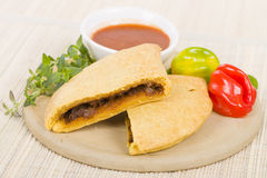 Caribbean Jerk Beef Patty Royalty Free Stock Image