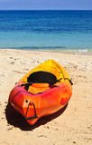 Caribbean Kayak on the Beach, Honduraa Royalty Free Stock Images