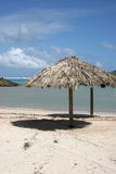 Caribbean lagoon in St Barth, grand cul-de-sac Royalty Free Stock Photo