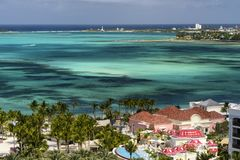 Landscape Scenic View of the Bahamas Royalty Free Stock Images
