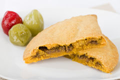 Caribbean Lamb Pattie Stock Image