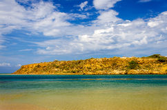 Caribbean Landscape. Dry landscape next to the Caribbean Sea in La Guajira, Colombia royalty free stock photography