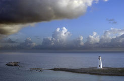 Caribbean Lighthouse. Under a dramatic sky Royalty Free Stock Photography