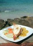 Caribbean lobster tostones Corn Island Nicaragua Royalty Free Stock Photo
