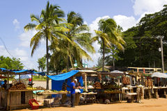 Caribbean Market. royalty free stock image