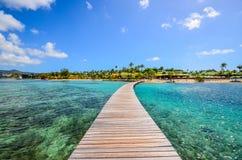 Caribbean Martinique pontoon on marin bay.  Royalty Free Stock Photography