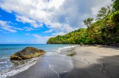 Caribbean martinique wild seaside beach.  Royalty Free Stock Images
