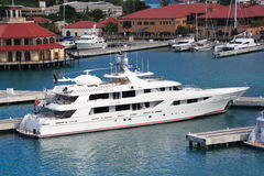 Caribbean Mega Yacht Stock Photos