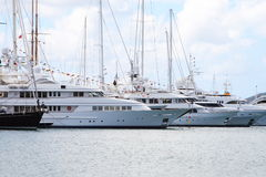 Caribbean Mega Yacht Royalty Free Stock Photo