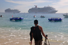 Caribbean, Mexico beach resort Stock Photography