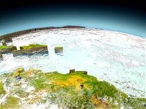 Caribbean on model of Earth vector illustration