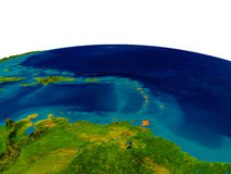 Caribbean on model of planet Earth Stock Photos