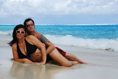 Caribbean Models Royalty Free Stock Images