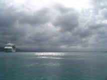 Caribbean morning on cruise. Haiti royalty free stock photography