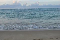 Caribbean Ocean with Powerful Skies Royalty Free Stock Photos