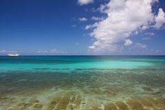 Caribbean Ocean Panorama Stock Photography