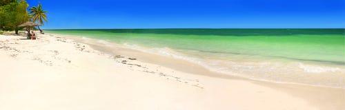 Caribbean panorama. Beach panorama, Cayo Levisa, Cuba Royalty Free Stock Image